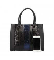 Sac à main noir David Jones CM3796